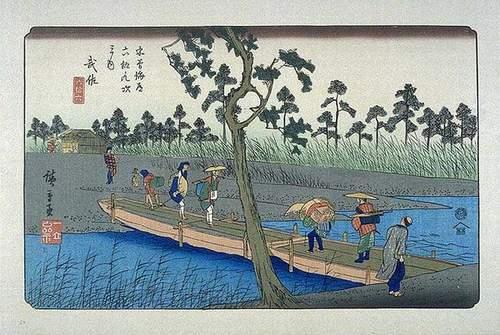 浮世絵(木曽海道六拾九次_武佐)