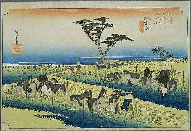 浮世絵(東海道五十三次 池鯉鮒)